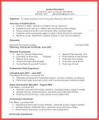 Pharmacy Technician Resume Objective Pharmacy Technician Pharmacy