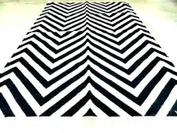 black and white zigzag rug chevron modern fin woven area project 62tm bla