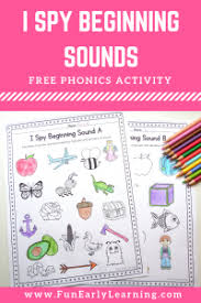 Compare the two orders here. I Spy Beginning Sounds Activity Free Printable For Speech And Apraxia