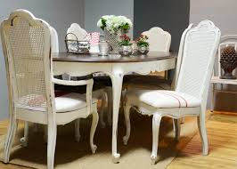 vintage dining room chairs white