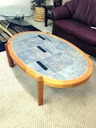 decoration scandinavian design round coffee table scan teak