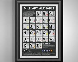 Check out our phonetic alphabet selection for the very best in unique or custom, handmade pieces from our wall hangings shops. Phonetic Alphabet Etsy