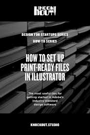 How To Set Up Print Ready Files In Illustrator Knockout
