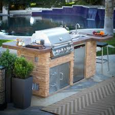 outdoor kitchen kits terrific prefab outdoor kitchens kit with old red brick cladding island also ceramic