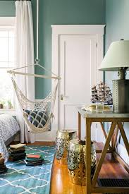 blue hanging chairs for bedrooms. Bedroom : Original White Hanging Chair For Inspiration With Textured Wood Floor And Antique Also Mid Century Table Added Rectangle Door Blue Chairs Bedrooms U