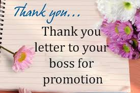 How To Write A Thank You Letter To A Boss For A Promotion