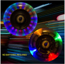 Razor Scooter Light Up Wheels Replacement Light Up Scooter Replacement Wheels With Abec 7 Bearings For Razor Scooters 3 Color Leds 100mm Pack Of 2