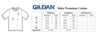 Gildan Size Chart Ladies Gildan Youth Shirt Sizing Chart Rldm