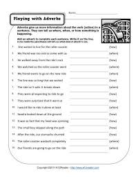 Playing With Adverbs | Free, Printable Adverb Worksheets