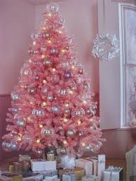 christmas trees decorated pink. Interesting Trees Christmas Trees Of Color Pink Tree Intended Decorated M