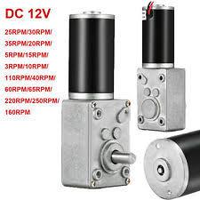 12v gear motor 12v dc motor high torque electric power turbo reducer worm geared reversible
