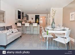 Kitchen Sofa Furniture Show Home Kitchen Diner With Sofa Stock Photo Royalty Free