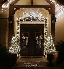 how to hang garland around front doorChristmas Porch and Front Door Garland DIY  Hometalk