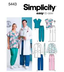 Scrub Top Patterns Custom Simplicity Pattern 48Women's Men's Scrub TopSML JOANN