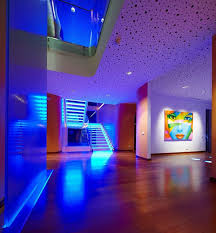 modern house lighting. Modern House Hallway Interior With Blue LED Lighting : Choosing The Best For Your I
