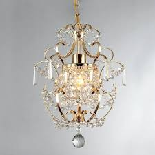 small gold chandelier mini crystal wrought iron