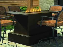 furniture bar height patio table with fire pit new set appealing sets built in costco
