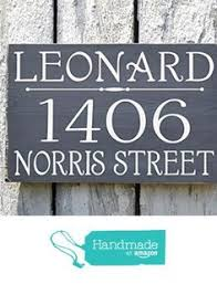 Wood Address Signs Outdoor Decor Custom Wooden STURDY 60x60 House Numbers Welcome Porch Sign 14