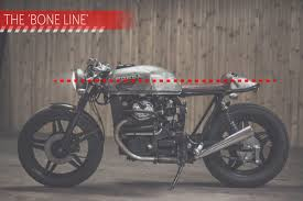 as charlie trelogan mentioned in his guide to building a cafe racer you need a few visual lines running through the bike like the one above