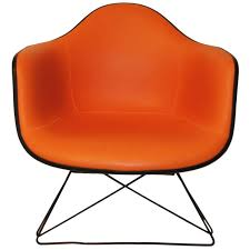 Mid Century Modern Furniture La Enchanting Orange MidCentury Modern Eames Lounge Chair By Herman MillerLAR