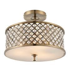 endon hudson 3 light ceiling brass lights
