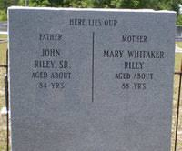 Mary Riley (Whitaker) (c.1770 - c.1858) - Genealogy