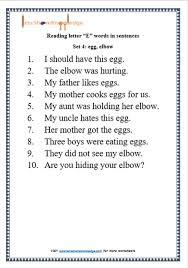sentences printable worksheets