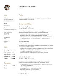 samole resume bartender resume sample 12 creative resume examples 2018