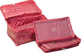annapurna s 5 case designer satin multi necklesh n jewellery box makeup and jewellery vanity box pink