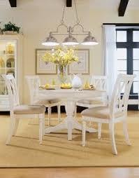 american drew camden white round dining table set onewayfurniture dining room furniture