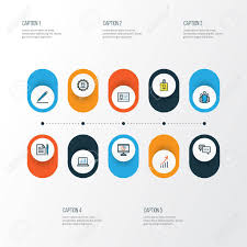 Unity Pie Chart Trade Colorful Outline Icons Set Collection Of Agreement Pie