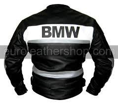 bmw motorrad leather jacket in black white grey colour size