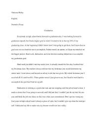narrative essays examples for high school ideal essays narrative essay high school graduation