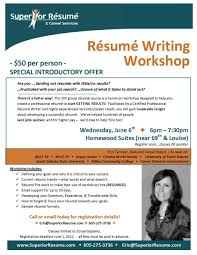 Resume Writing Workshop Flyer Meganwestco How To Class Toreto Co