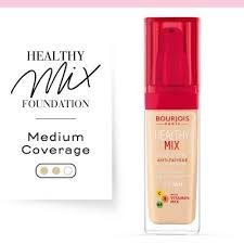 Bourjois Foundation Shade Chart Healthy Mix Anti Fatigue Foundation 50 Rose Ivory Bourjois