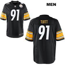 No Jersey Home Mens Nike Tuitt Pittsburgh Game Stephon Steelers 91 Black Football eeaeadbaefabebe|Packer Fans United