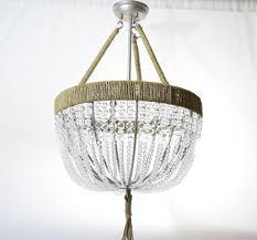 renee open clear handmade blown glass beaded chandelier