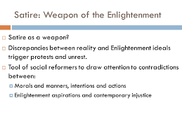 thursday  turn in essay on man discussion questions  satire weapon of the enlightenment  satire as a weapon