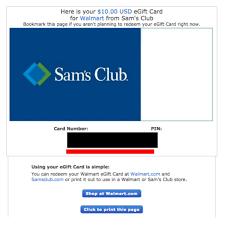 sams club gift card balance photo 1