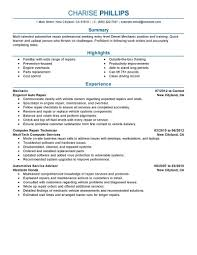 Mechanic Resume Best Entry Level Example Livecareer Examples