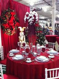 red and silver table decorations. Silver-Tiered Centerpiece For Christmas | Centerpieces, Tablescapes And Table Settings Red Silver Decorations A
