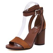 vintage classic fashion block chunky high heel cork wood heel sandals concise women open toe nubuck
