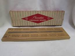 Old Wooden Game Boards VINTAGE WOOD FOLDING CRIBBAGE BOARD Old Wooden Game Toy Wood Box 100