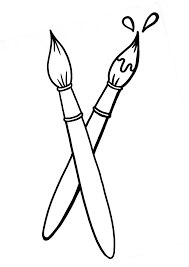 Coloring Page Of Paint Brushes For Coloring For Kids Sketchuecom