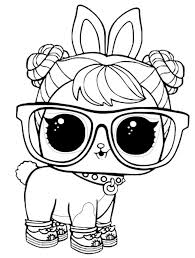 Lol Surprise Pets Coloring Pages Hop Hop Lol Surprise Coloring