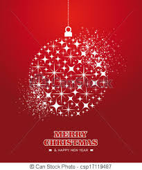 merry christmas and happy new year cards. Fine Christmas Merry Christmas And Happy New Year Stars Bauble Card  Csp17119487 In And Cards N