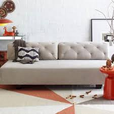 ... West Elm Tillary Tufted sofa/ bed/couch grey ...