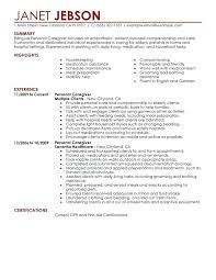 Personal Care Worker Resume Administrative Assistant Resume Samples