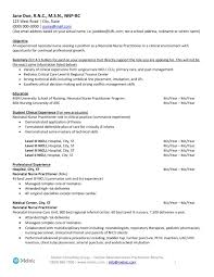 Nurse Practitioner Resume Example Examples Of Resumes