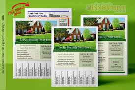 Lawn Care Brochure Printable Lawn Care Business Flyer Templates